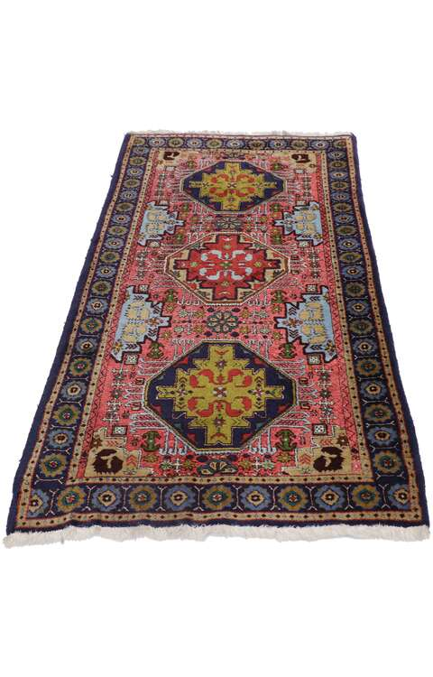 3 x 5 Vintage Persian Ardabil Rug 77657