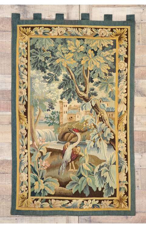 3 x 5 Antique French Verdure Tapestry 77764
