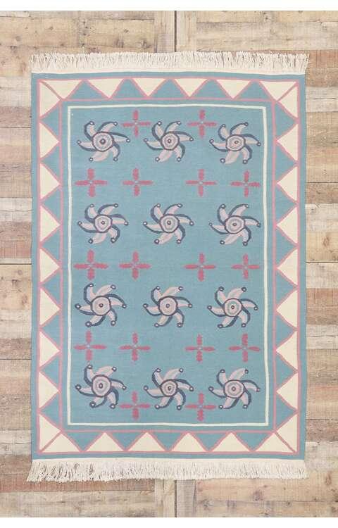 4 x 6 Vintage Romanian Kilim Rug 77805