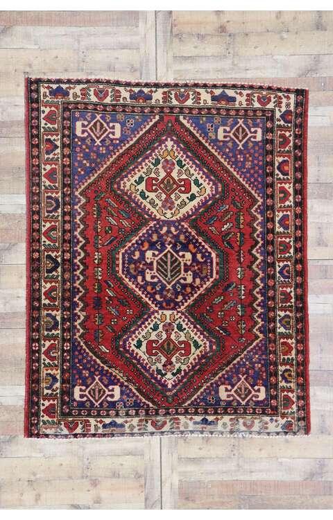 5 x 7 Vintage Persian Viss Rug 78086