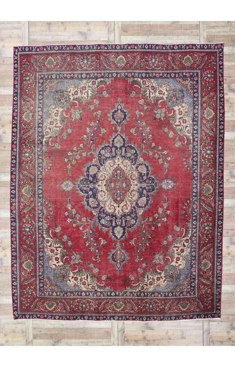 10 x 13 Antique Persian Tabriz Rug 78088